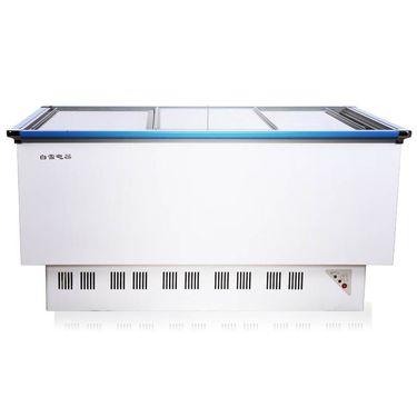 【易购】白雪SCWD4-738F 738L大容量商用 冰柜 卧式冷藏保鲜岛柜 大冰柜冷冻冷柜展示柜
