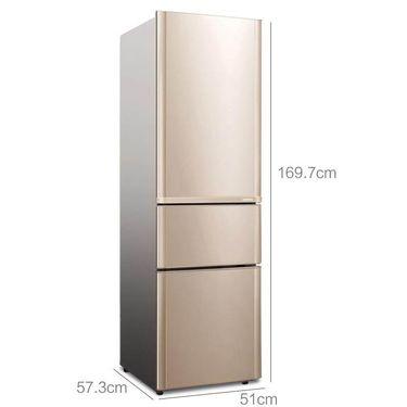 【易购】康佳(KONKA)206升 三门冰箱 家用电冰箱 节能保鲜 三门三温 静音省电 (金色)BCD-206GX3S