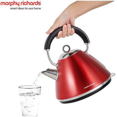 【易购】英国摩飞(Morphyrichards)MR7076A电水壶 304不锈钢电热水壶 红色