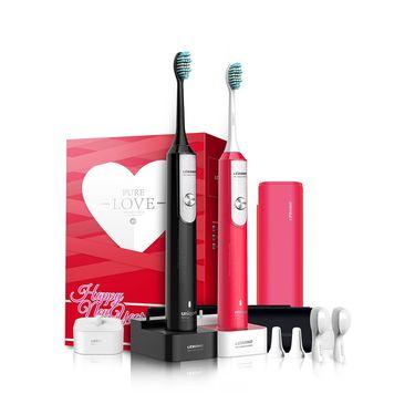 电动牙刷 力博得情侣装纯爱礼盒两支装 成人充电式家用智能声波电动牙刷