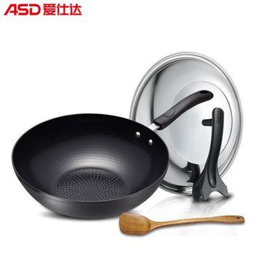【易购】爱仕达ASD 30CM电磁炉通用陶瓷少油烟炒锅JD8330E