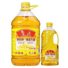 【易购】鲁花 5S压榨一级花生油5L