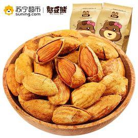 【易购】【苏宁超市】 憨豆熊 坚果零食 干果炒货巴旦木120g 休闲食品 带壳