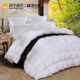 【易购】富安娜家纺圣之花西伯利亚进口羽绒被秋冬保暖被芯冬厚被 白色 1.5m床