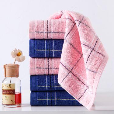 毛巾/面巾 6条装纯棉毛巾全棉洗脸巾简约格子面巾柔软吸水高性价比
