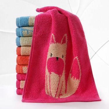毛巾/面巾 6条装纯棉厚实柔软吸水小毛巾三色选择可爱卡通面巾