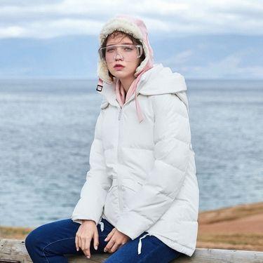 女式羽绒服 【保暖抗寒】森马女装2018冬新款韩版潮流连帽显瘦A版中长款女款羽绒服