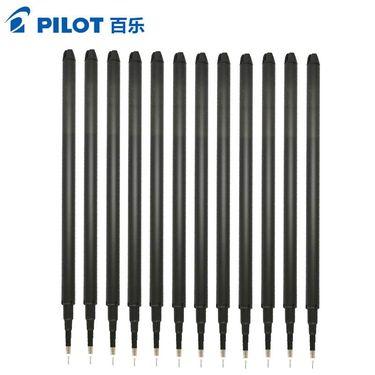 【易购】百乐(pilot)BLS-FRP4磨擦极细钢珠笔笔芯12支装 0.4mm黑色 黑色