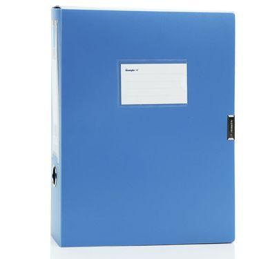 【易购】广博 75mm A4 蓝色 粘扣档案盒 WJ6754 (单位:只)