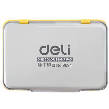 【易购】得力(deli)9894空白秒干印台(无色)(12只装)