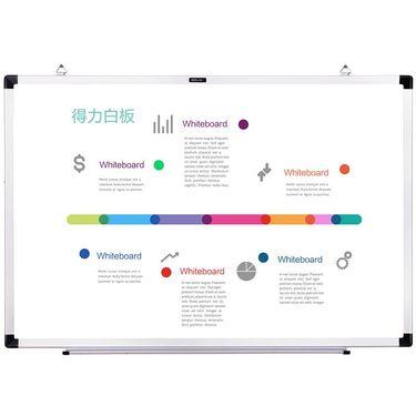 【易购】得力7851书写磁性白板 家用可悬挂小白板 迷你涂鸦留言板30×45cm
