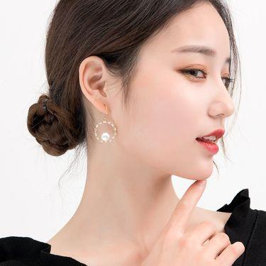 耳环耳钉 如熙耳饰女士S925纯银饰品天然淡水珍珠耳坠短款简约时尚耳钩