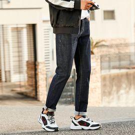 男式牛仔裤 太平鸟男装2018年秋冬新品男士水洗韩版时尚潮流直筒牛仔裤