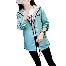 北极绒 春秋新款韩版学院风两面穿连帽宽松短款外套风衣