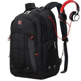 SWISSGEAR双肩包书包 防水面料商务休闲双肩背包笔记本电脑包15.6英寸 SA-9360III黑色