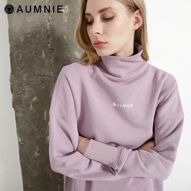 aumnie 澳弥尼丨女士新款秋冬休闲短款上衣百搭长后拉链LOGO卫衣