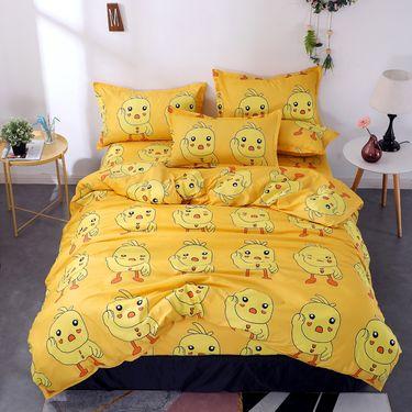 沁园 芦荟棉宿舍床单四件套三件套ins风磨毛被套四件套1.5m1.8米床双人