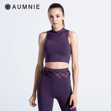 aumnie 澳弥尼丨女士运动文胸健身跑步瑜伽服塑形瘦身美背纯粹背心
