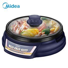 美的MIDEA 美的(Midea)多用途锅家用电火锅电煮锅电热锅电炒锅HS136B 可煎烤 分体式设计