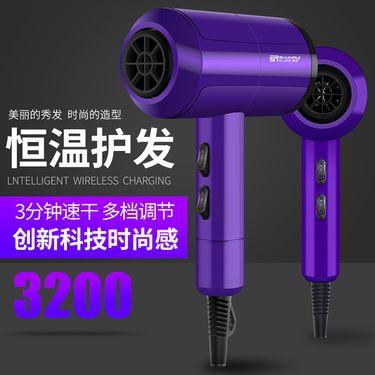 顺睿 正品大功率吹风机学生理发店吹风筒发廊电吹风机冷热风恒温XL-6666紫色交流