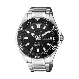 西铁城 (CITIZEN)手表自动机械钛合金表带黑盘正装商务休闲男表NY0070-83E