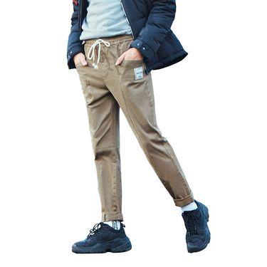 A21 秋冬新款男装中腰休闲长裤 小哈伦显瘦设计青春活力男运动裤4841040002