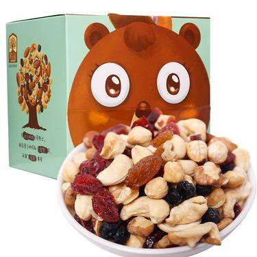 臻味 天天坚果礼盒 每日坚果炒货 休闲零食 混合坚果 礼盒熊心壮志189g