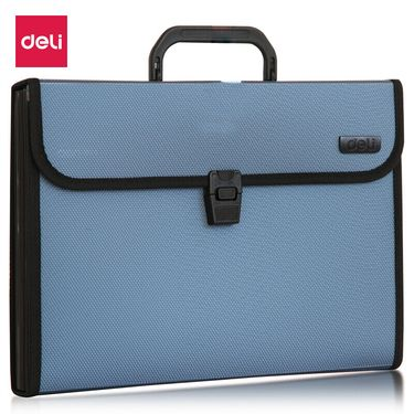 得力 (deli)A4/13格手提式风琴包 针织纹面资料包文件包 颜色随机5555