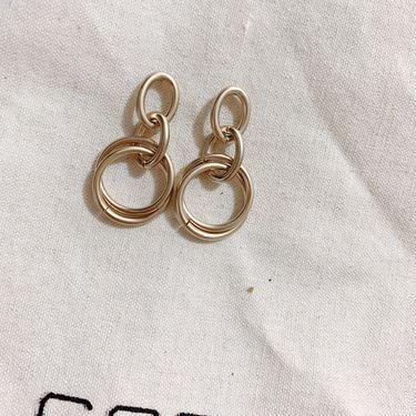 Silver 韩国网红复古气质圆圈时尚长款个性百搭圆耳环 buyer