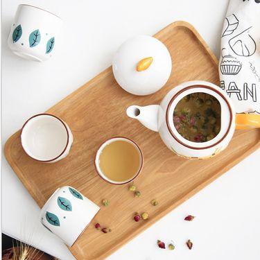 YNA 陶瓷萌趣茶壶套装 小象 蓝