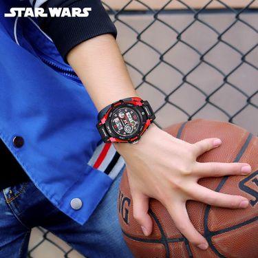 Disney/迪士尼 儿童手表男孩防水夜光中小学生电子表多功能双显男生户外运动男童手表