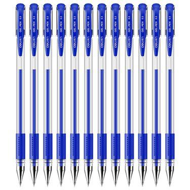 得力 (deli)0.5mm经典办公子弹头中性笔 水笔签字笔黑色12支/盒6600ES
