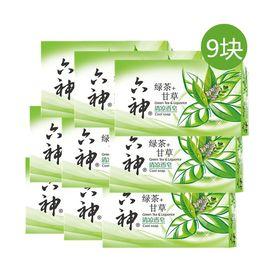 六神 清凉香皂(绿茶+甘草)125G*9块【9块量贩装】