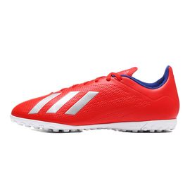 Adidas 男子足球鞋2019新款X 18.4 TF碎钉训练比赛运动鞋BB9413