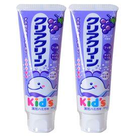 KAO/花王 牙膏 日本进口 儿童牙膏 木糖醇氟素 宝宝牙膏 葡萄味70g 两支装
