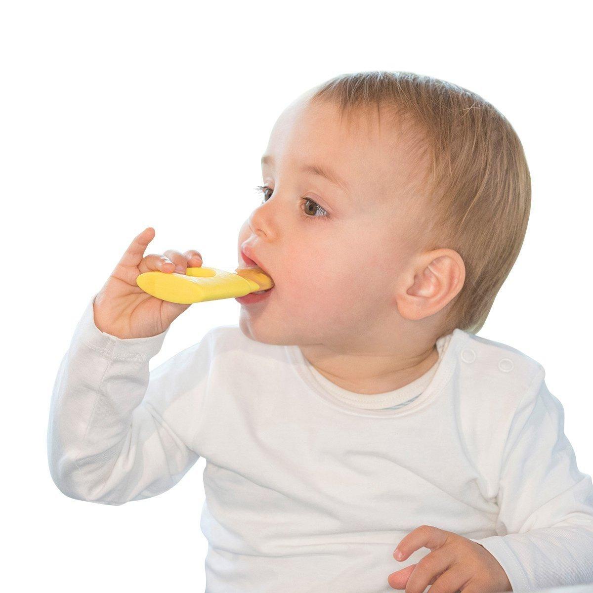 亲亲我 蘑菇指环牙胶 宝宝硅胶牙胶婴幼儿咬咬胶果蔬乐磨牙棒