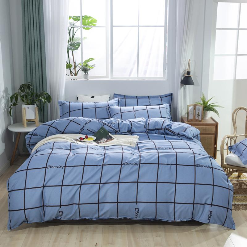 澳西奴 磨毛四件套 可水洗机洗 AB版双面设计 做工细腻 床品套件 枕套床单被套 1.5/1.8米床