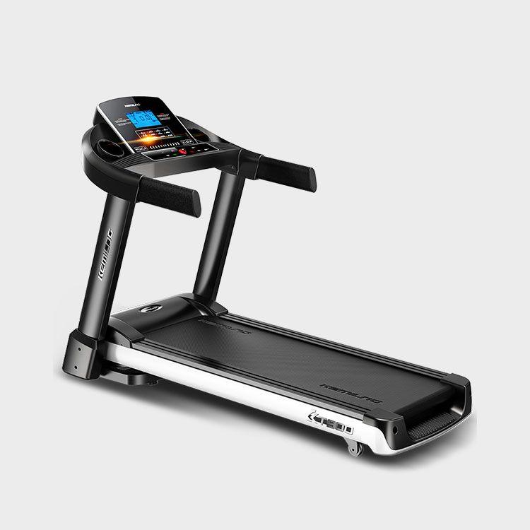 柯迈龙 家用运动健身跑步机K900单功能蓝屏版 加宽跑台回弹减震多速调节折叠3档坡度