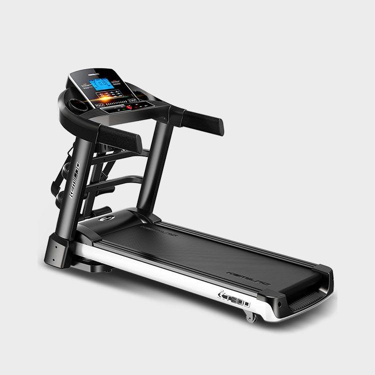 柯迈龙 家用运动健身跑步机K900蓝屏多功能版 加宽跑台回弹减震多速调节折叠3档坡度多功能健身