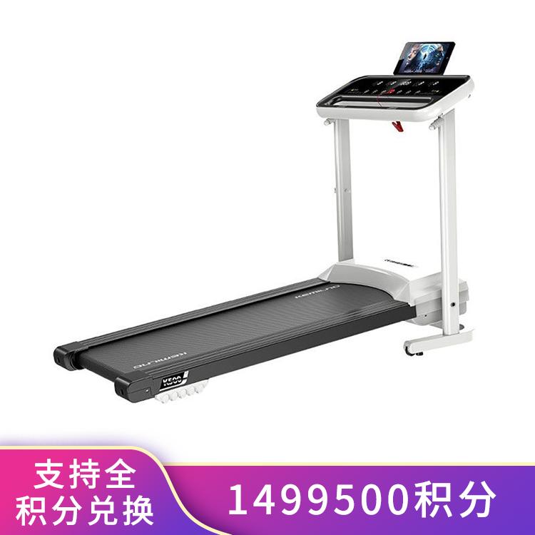 柯迈龙 家用运动健身跑步机K500 心率监测回弹减震柔韧跑带全折叠收纳iPad支架
