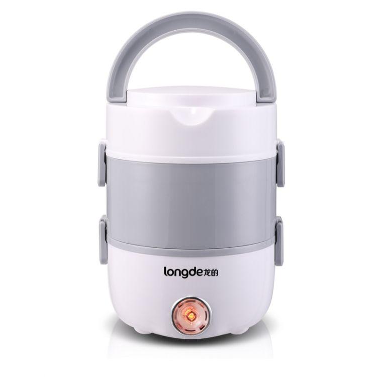 龙的 (longde)电热饭盒双层保温饭盒便携式加热饭盒蒸煮饭盒便当盒 LD-FH21A